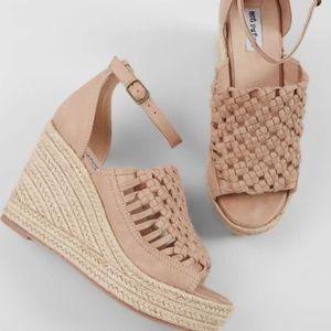 NWT - Women's Jojo Woven Jute Wedge Sandals